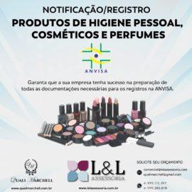 Notificação\Registro Produtos de Higiene Pessoal, Cosméticos e Perfumes